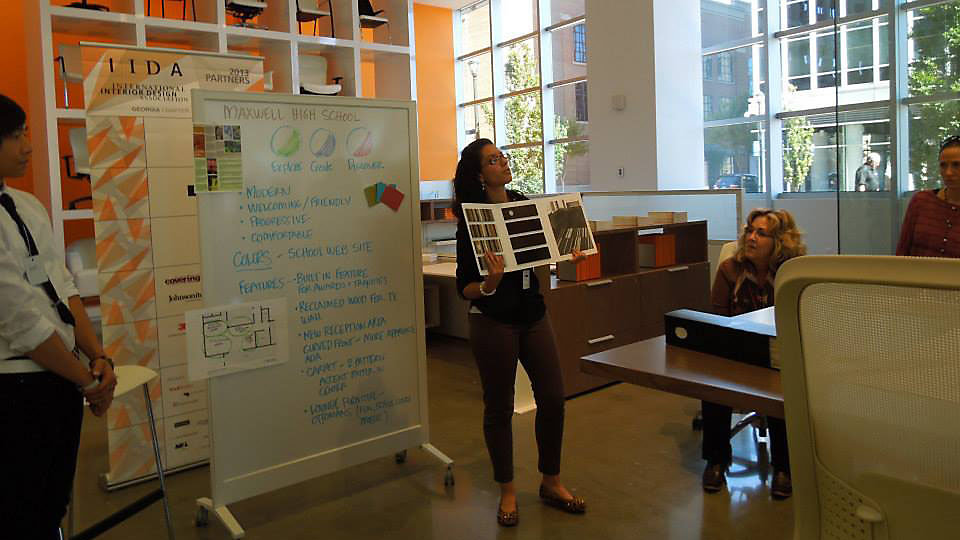 Architecture and interior design students at Atlanta's Maxwell High School participated in a design charette with IIDA Georgia and Teknion.