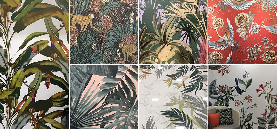Palm prints and illustrations seen at HD Expo