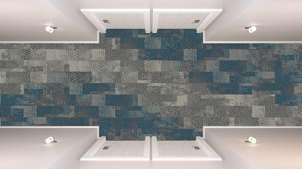 <b>Aqua to Sapphire 07</b>   <b>Collection</b> Head Over Heels   <b>Pattern</b> M0846   <b>Colors</b> Custom   <b>Installed</b> Ashlar