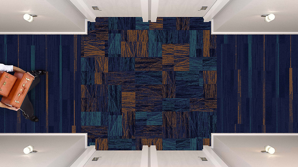 <b>Aqua to Sapphire 14</b>   <b>Collection</b> Head Over Heels   <b>Pattern</b> M0875   <b>Colors</b> Custom   <b>Installed</b> Pattern by Tile   <b>Product</b> Trio   <b>Colors</b> Custom   <b>Installed</b> Ashlar