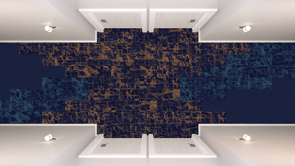 <b>Aqua to Sapphire 15</b>   <b>Collection</b> Head Over Heels   <b>Pattern</b> M1051   <b>Colors</b> Custom   <b>Collection</b> Urban Retreat   <b>Product</b> UR501   <b>Color</b> 103616 Navy   <b>Installed</b> Ashlar