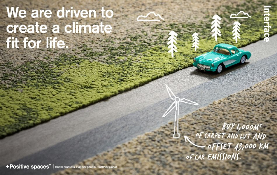 Interface are driven to create a climate fit for life