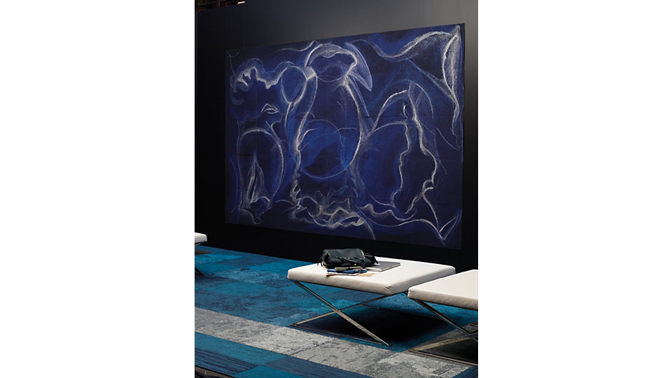 <b>Collection</b> Net Effect &nbsp;&nbsp;<b>Produit</b>B601 &nbsp;&nbsp;<b>Couleur</b> 102904 Black Sea &nbsp;&nbsp;<b>Produit</b> B602 &nbsp;&nbsp;<b>Couleur</b> 102912 Black Sea &nbsp;&nbsp;<b>Produit</b> B603 &nbsp;&nbsp;<b>Couleur</b> 102920 Black Sea &nbsp;&nbsp;<b>Installation</b> Motif par dalle