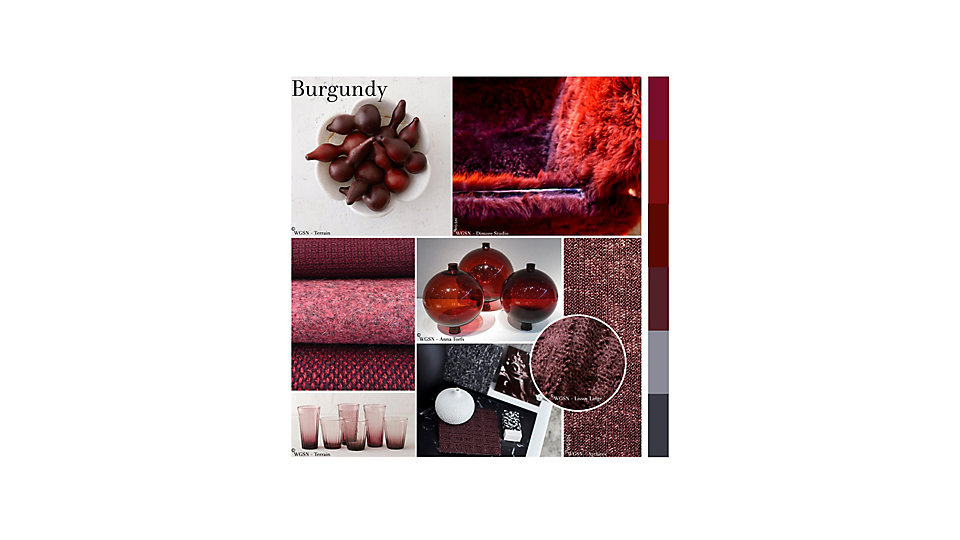 Colour of the Month December - Burgundy