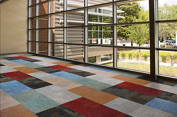 Modular Carpet Tile in Education Setting