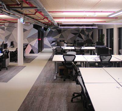 Unsere Kollektion Human Nature sorgt im Facebook Workspace für ein positives Arbeitsklima.