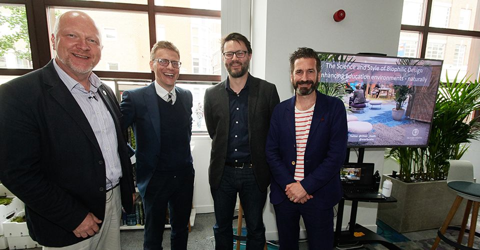 Iain Patton, Paul Begley, Oliver Heath and Gavin Robinson discuss design and sustainability within education.