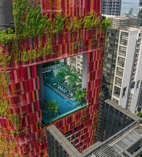 Biophilic Design in Urban Architecture: The Oasia Hotel in Singapore