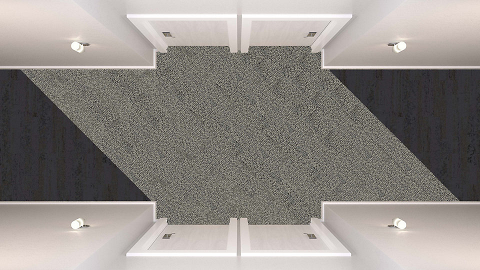 <b>Collection</b> Human Nature   <b>Product</b> HN810   <b>Color</b> 104213 Flint   <b>Product</b> HN840   <b>Color</b> 104224 Limestone   <b>Installed</b> Ashlar