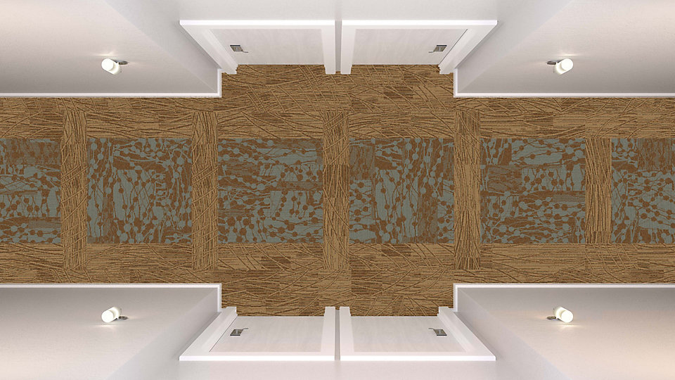 <b>Ivory to Caramel 12</b>   <b>Collection</b> Whole Earth   <b>Product</b> WE152   <b>Color</b> 104422 Toffee   <b>Product</b> WE154   <b>Color</b> Custom   <b>Installed</b> Ashlar