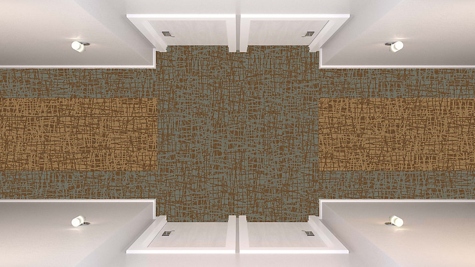 <b>Ivory to Caramel 13</b>   <b>Collection</b> Whole Earth   <b>Product</b> WE153   <b>Colors</b> 104438 Toffee, Custom   <b>Installed</b> Ashlar