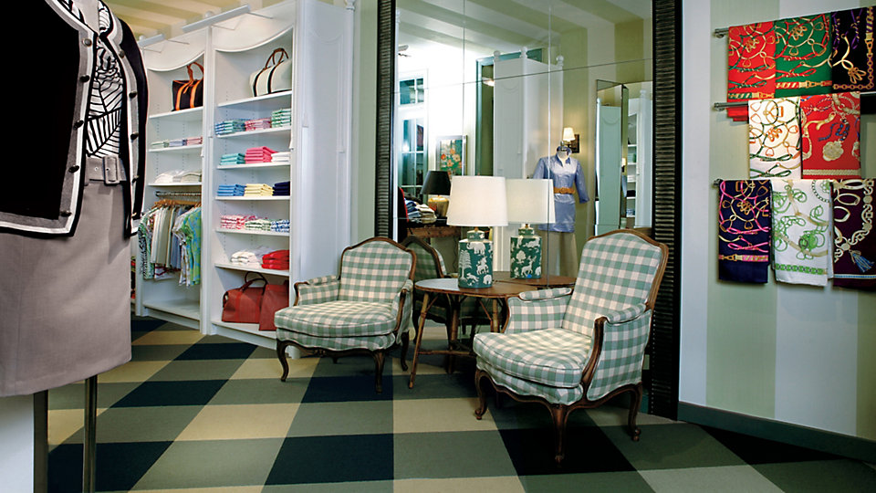 <b>Product</b> Viva Colores &nbsp;&nbsp;<b>Colors</b> Berilo, Esmeralda, Prado &nbsp;&nbsp;<b>Installed</b> Pattern by Tile &nbsp;&nbsp;<b>Photo</b> Patrick Mulcahy
