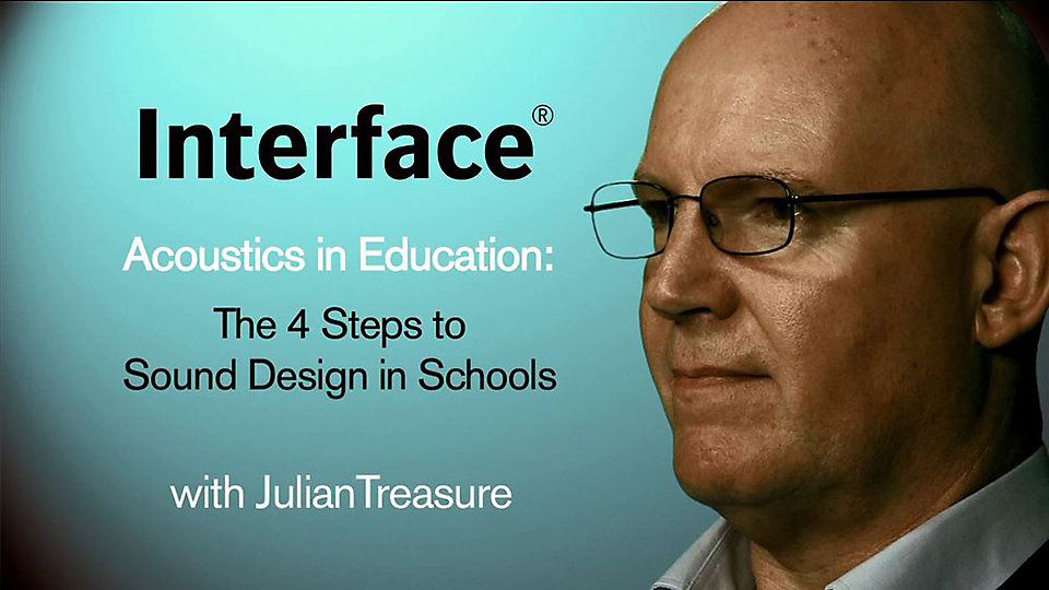 Julian Treasure outlines the four steps designers can take to improve acoustics in classrooms.   -