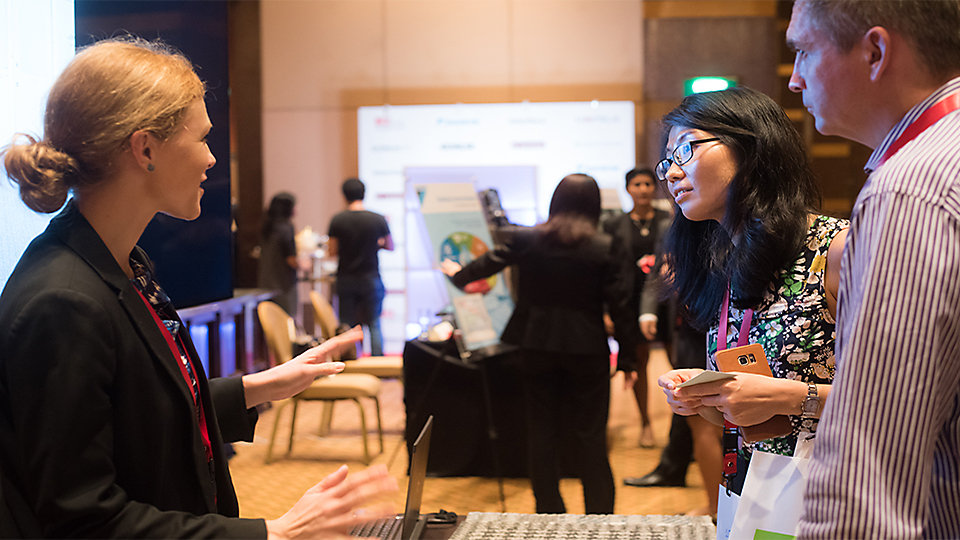 Engaging visitors at the Interface booth - BCI Asia Awards 2016