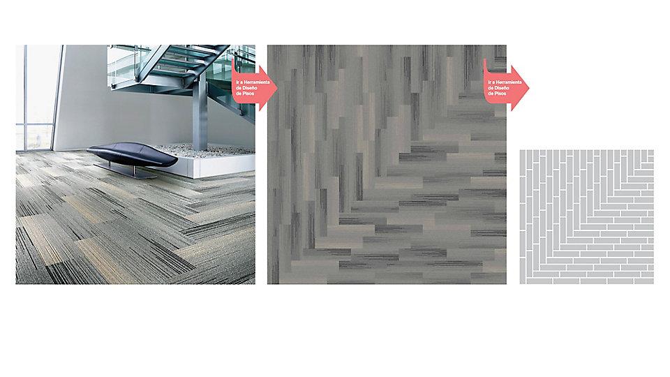 <b>Colección</b> Silver Linings &nbsp;&nbsp;<b>Producto</b> SL930 &nbsp;&nbsp;<b>Color</b> 104527 Grey Fade &nbsp;&nbsp;<b>Instalado</b> Pattern by Tile