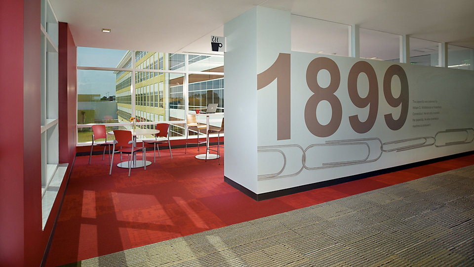 <b>Location</b> Global Headquarters, Boca Raton, FL &nbsp;&nbsp;<b>Product</b> Stroud &nbsp;&nbsp;<b>Color</b> 6628 Woodstock &nbsp;&nbsp;<b>Product</b> Solid Foundation &nbsp;&nbsp;<b>Color</b> 5872 Flame &nbsp;&nbsp;<b>Photo</b> ©Grossman Photography
