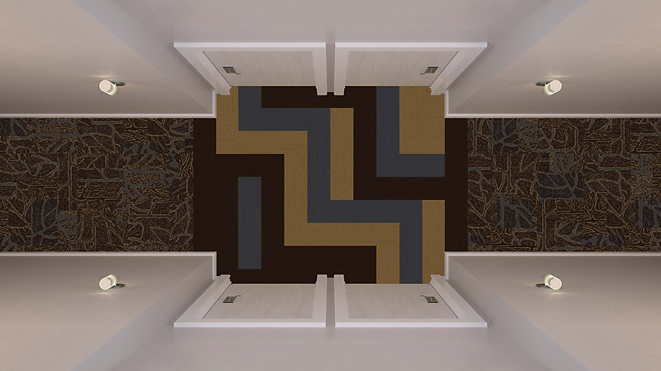 <b>Sepia to Umber 16</b>   <b>Collection</b> Posh   <b>Product</b> PO801   <b>Colors</b> 104141 Genoa, 104126 Tangiers, 104128 St. Tropez   <b>Installed</b> Pattern by Tile   <b>Collection</b> Head Over Heels   <b>Pattern</b> M0777   <b>Color</b> Custom   <b>Installed</b> Non Directional
