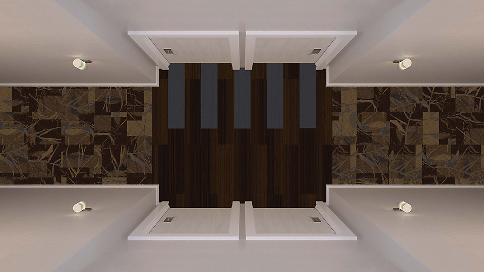 <b>Sepia to Umber 17</b>   <b>Collection</b> Head Over Heels   <b>Pattern</b> M0872   <b>Color</b> Custom   <b>Installed</b> Monolithic   <b>Product</b> Walk the Plank   <b>Color</b> 8763 Walnut   <b>Installed</b> Ashlar   <b>Collection</b> Posh   <b>Product</b> PO801   <b>Color</b> 104141 Genoa   <b>Installed</b> Pattern by Tile