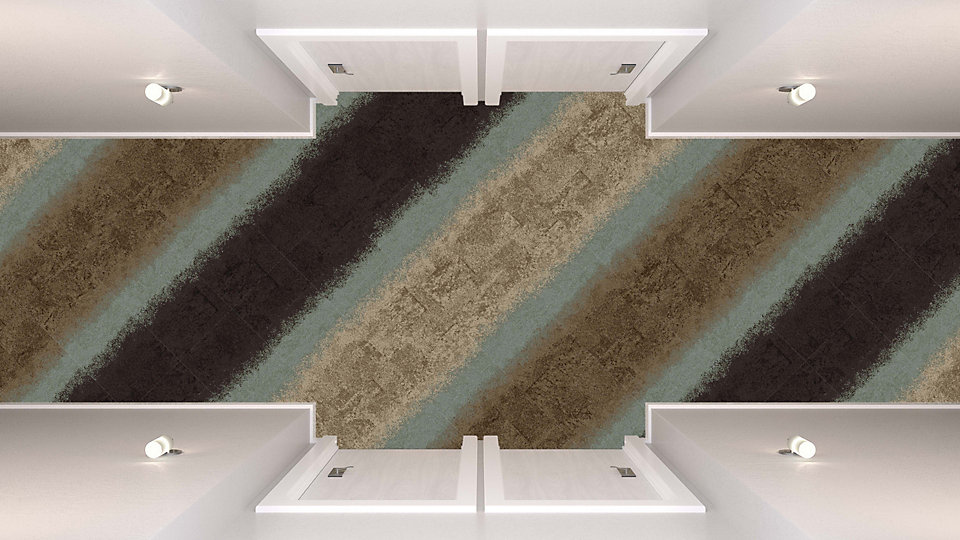 <b>Sepia to Umber 31</b>   <b>Collection</b> Urban Retreat   <b>Product</b> UR101   <b>Colors</b> Custom    <b>Installed</b> Pattern by Tile