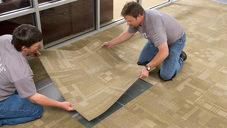 TacTiles connectors adhere carpet tiles to each other, not the floor beneath. Their strength and flexibility allows you to selectively replace one or several carpet tiles quickly and cleanly.