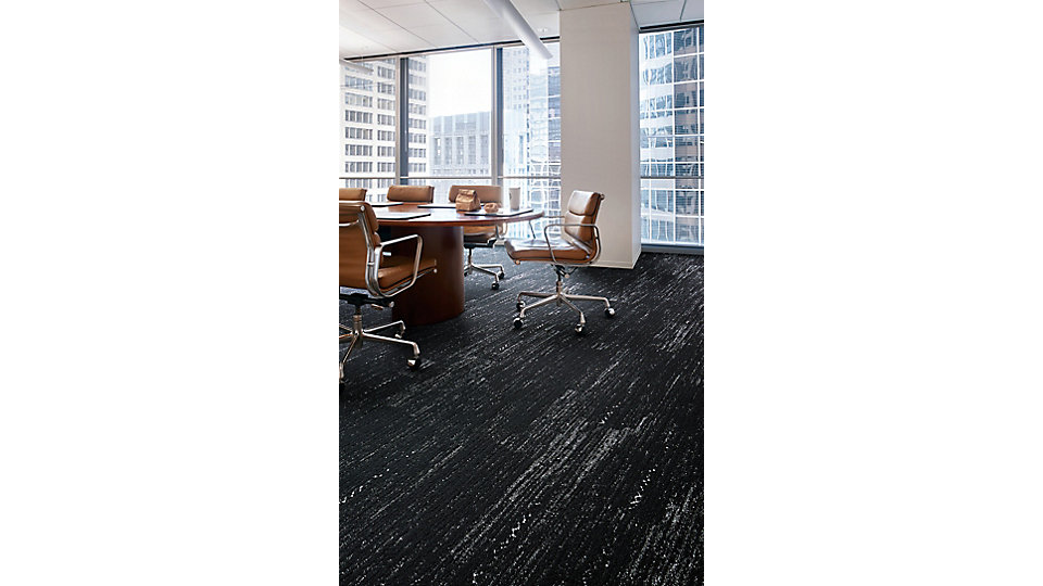<b>CARPET   Collection</b> 5th Ave Collab    <b>Product</b> Darning   <b>Color</b> 106451 Black   <b>Installed</b> Ashlar