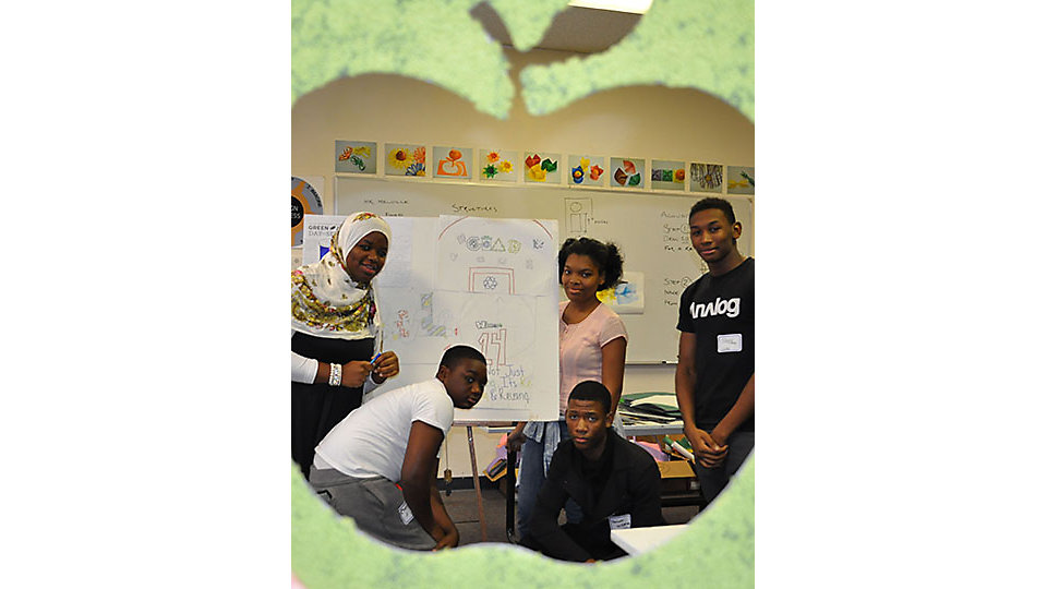 Interface associates partnered with EwingCole, a local design firm, and CHAD, a charter high school for Architecture and Design in Philadelphia. They educated students and faculty on the importance of recycling correctly and how to implement it in their school.