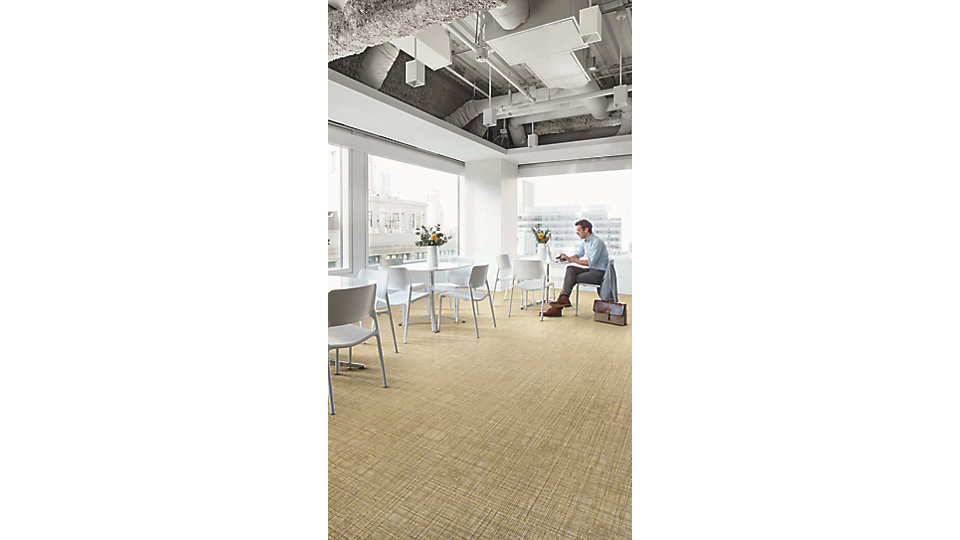 <b>LVT Product</b> Native Fabric   <b>Colors</b> A00804 Straw   <b>Installed</b> Non Directional
