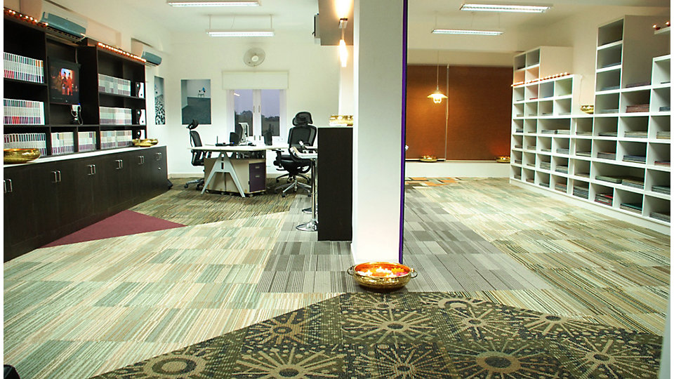 Interface's showroom in Hyderabad.