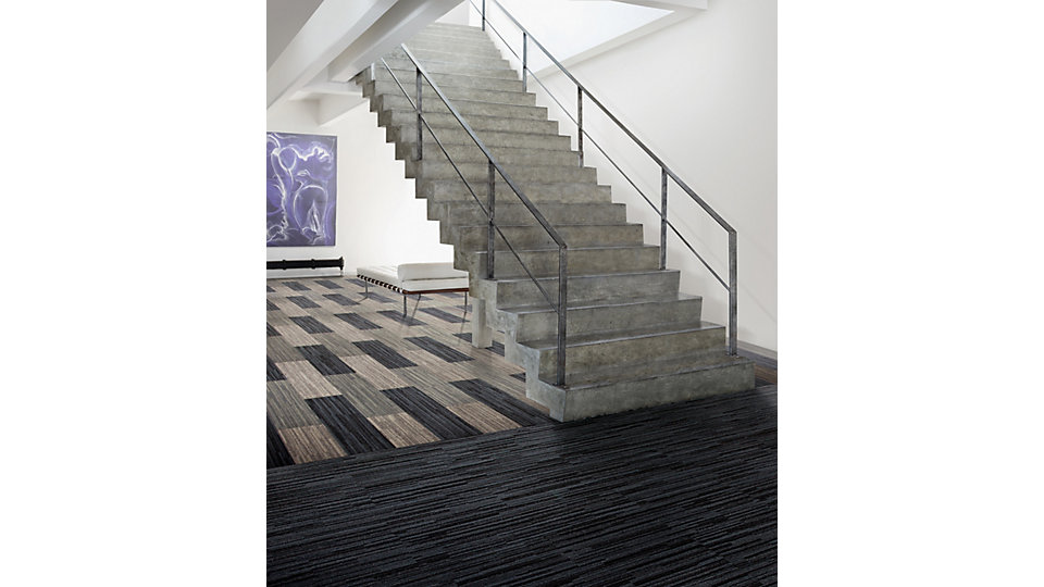 <b>Collection</b> Net Effect   <b>Product</b> B701   <b>Colors</b> Caspian, Black Sea, Driftwood   <b>Installed</b> Ashlar