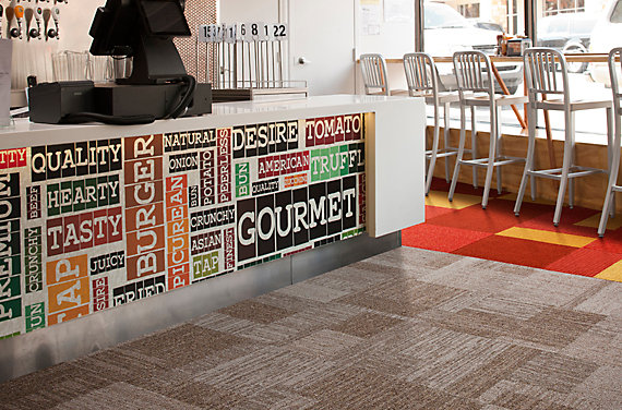 Modular Carpet Tile in Retail Setting