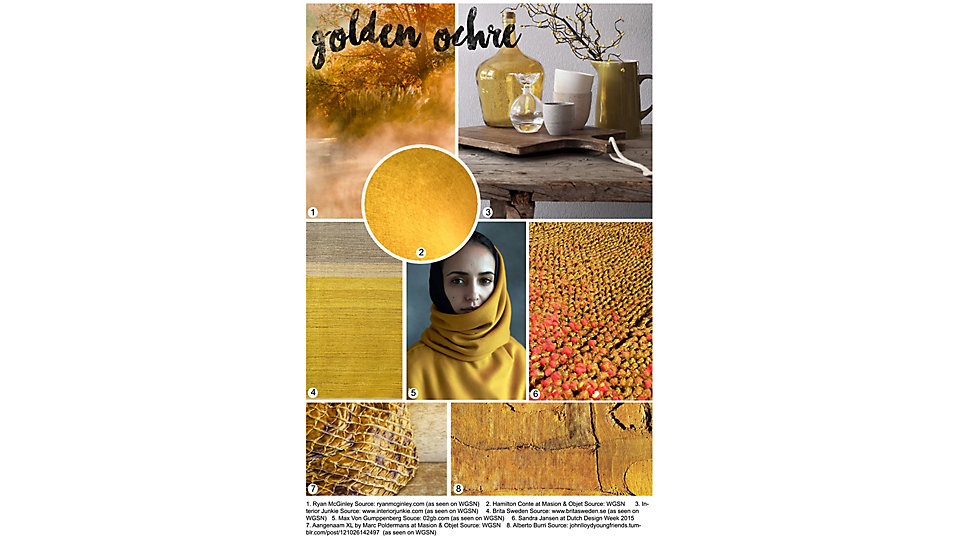 Colour of the Month February - Golden Ochre