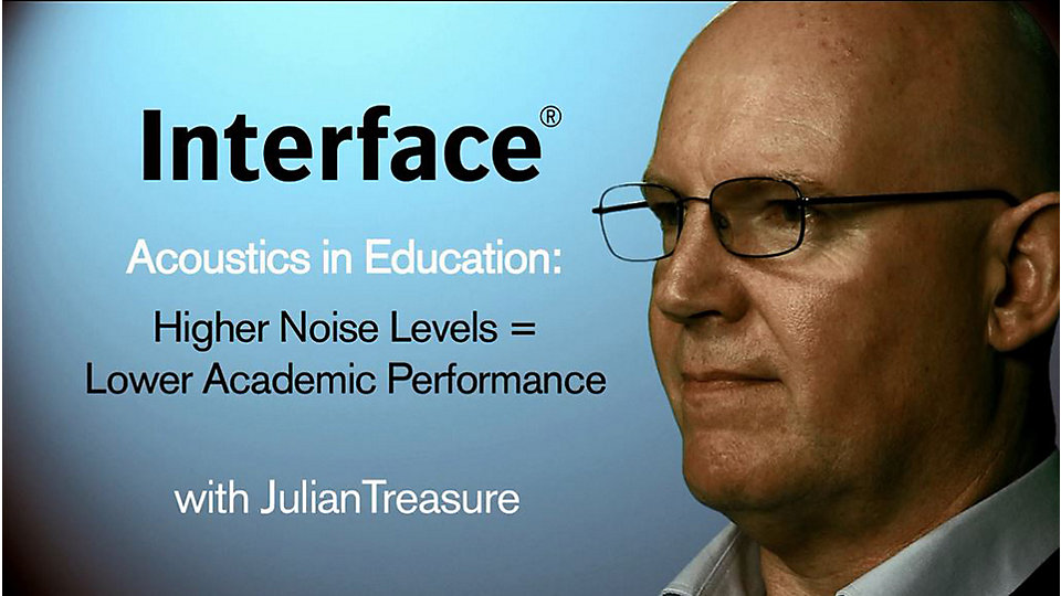 Sound specialist Julian Treasure reveals how high levels of sound affect a student's ability to learn and a teacher's health. -