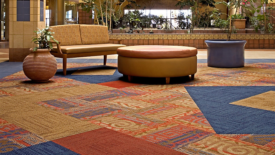 <b>Product</b> Pictorials II Pattern Library   <b>Pattern</b>   <b>Color</b> Custom   <b>Product</b> Syncopation   <b>Colors</b> Mojave, Coral, 6484 Ocean   <b>Installed</b> Pattern by Tile   <b>Photo</b> Bruce Quist