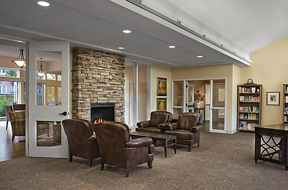 Modular Carpet Tile in Senior Living Setting