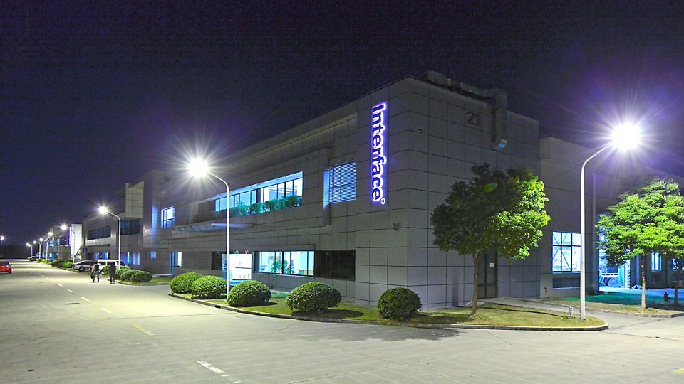Interface opened its Taicang, China manufacturing facility in March 2011. The facility also includes a customer showroom.