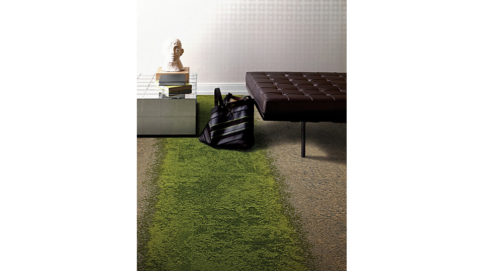 <b>Collection</b> Urban Retreat;   <b>Product</b> UR101  <b>Colour</b> Flax/Grass  <b>Product</b> UR102  <b>Colour</b> Flax  <b>Product</b> UR103  <b>Colour</b> Grass;   <b>Installed</b> Pattern by Tile